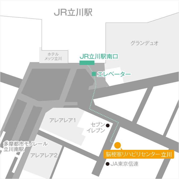 Facility Tachikawa Routes 01 Map