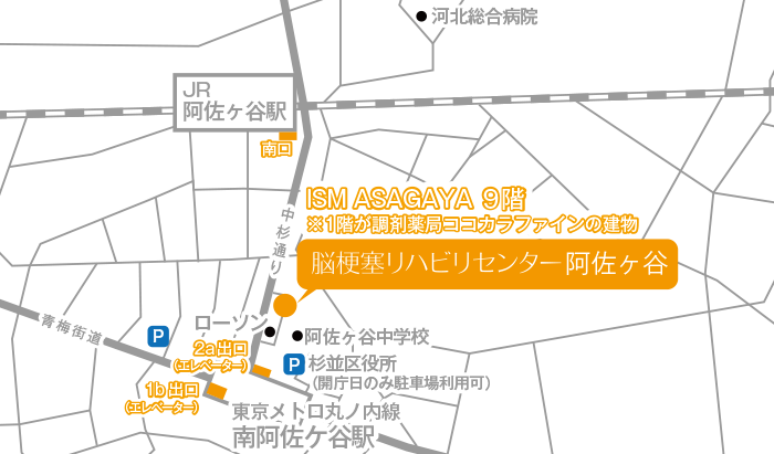 Facility Asagaya Map